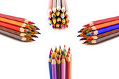 Color pencils isolated — Stok fotoğraf