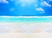 Strand und tropischen Meer Hintergrund — Stockfoto