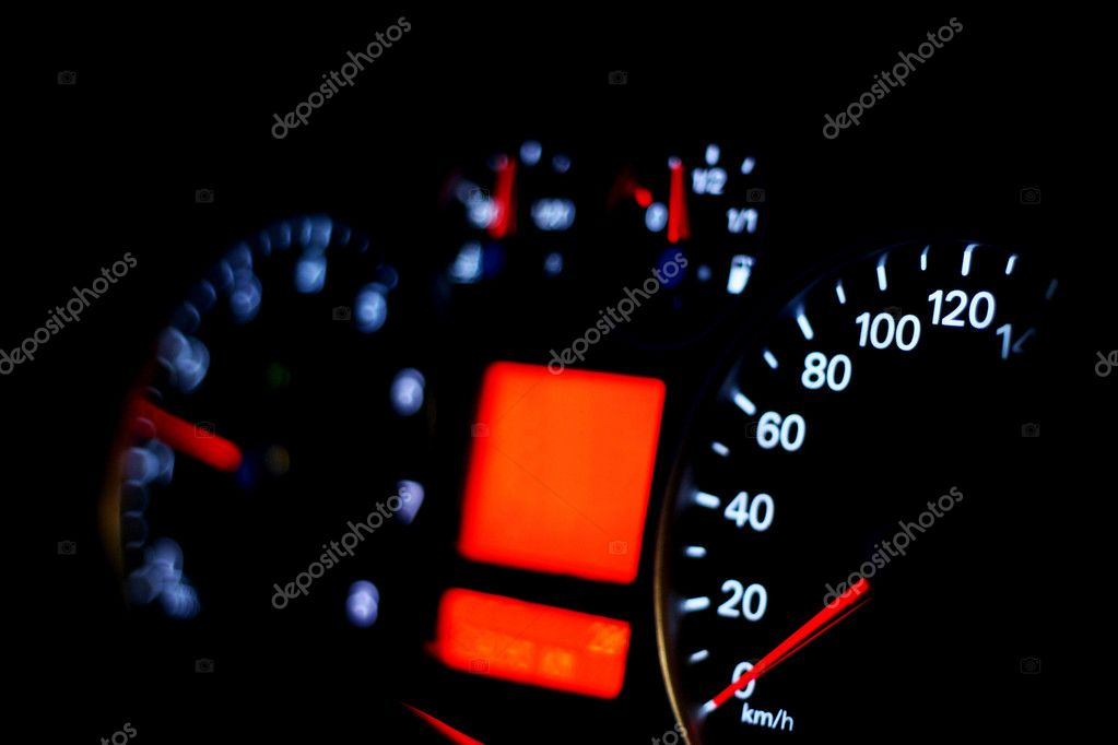 Speedometer of a car  Stock Photo #10120658