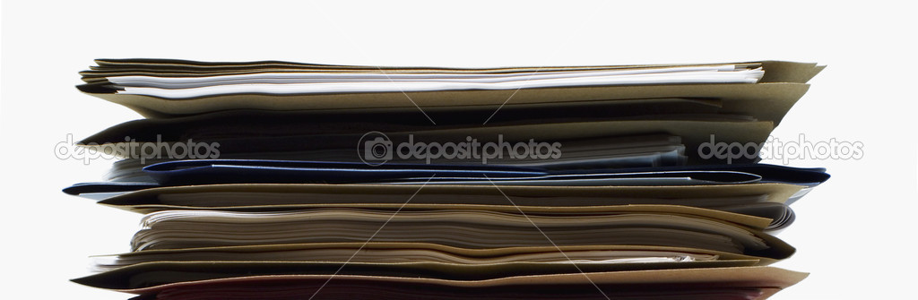 File Folders on White Background — Stock Photo #10120811