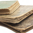 Stock Photo: Antique old books on white
