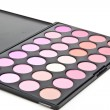 Makeup set. Professional multicolor eyeshadow palette — Stock Photo