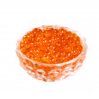 Royalty-Free Stock Photo: Red caviar Salmon roe in glass jar