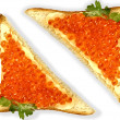 Royalty-Free Stock Photo: Red caviar sandwich