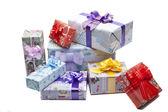 Izole renkli hediye kutusu — Stok fotoğraf