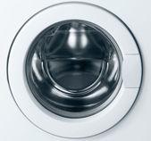 Close-up of washing machine door — Stock Photo