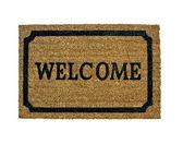 Een nieuwe welkom deurmat geïsoleerd — Stockfoto
