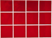 Contemporary Red Tile glossy mosaic Earthenware material — Stock Photo