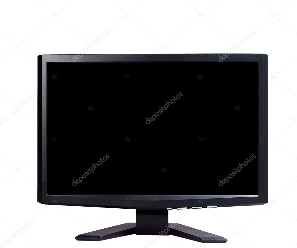 Modern widescreen tv lcd monitor — Stock Photo #8551120