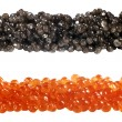 Red and black fish caviar — Stock Photo