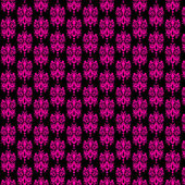 Black & Hot Pink Damask Paper — Stock Photo