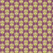 Purple & Light Yellow Damask Paper — Stock Photo