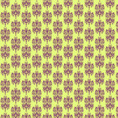 Yellow & Purple Damask Paper — Stock Photo