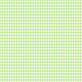 White & Light Green 2Tone Argyle Paper — Stock Photo