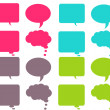 Bright & Colorful Chat Bubbles - Stock Photo
