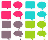 Bright & Colorful Chat Bubbles — Stock Photo
