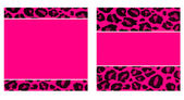 Hot Pink & Black Leopard Paper Set — Stock Photo