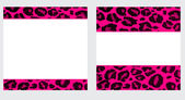 Hot Pink & White Leopard Paper Set — Stock Photo