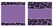 Purple & Black Leopard Paper Set — Stock Photo