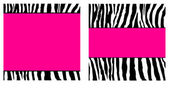 Hot Pink Zebra Paper Set — Stock Photo