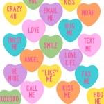 Conversation Hearts — Stock Photo