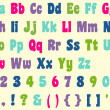 Colorful Alphabet Letters & Numbers — Stock Photo #8547525