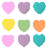 Conversation Heart Shapes Template — Stock Photo