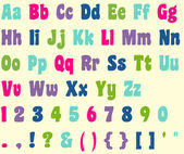 Colorful Alphabet Letters & Numbers — Stock Photo