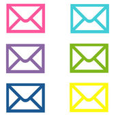 E-mail colorate - buste — Foto Stock