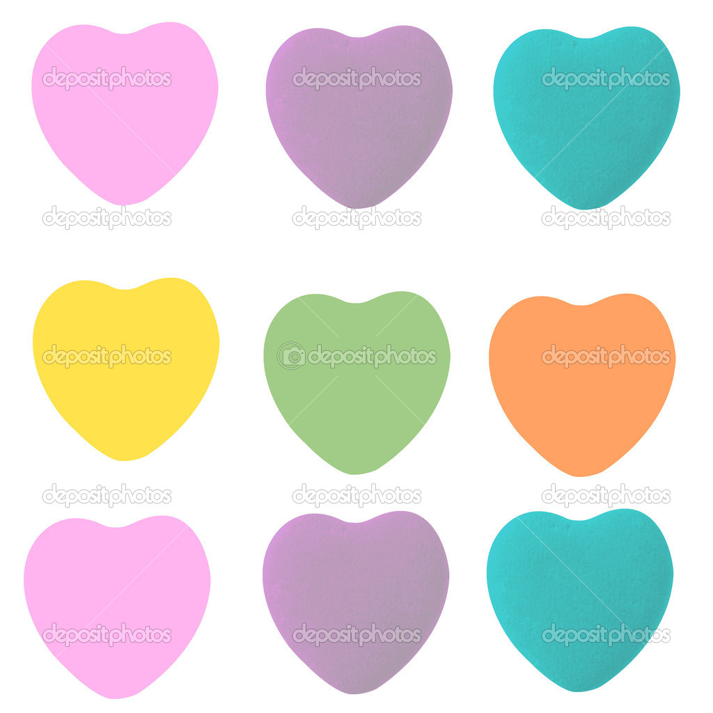 conversation heart shapes template � stock photo