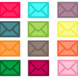 Colorful Email Envelope Collection — Stock Photo