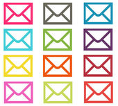Colorful Email Icons — Stock fotografie