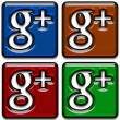 Google Plus Icons Pack — Stock Photo