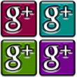 Google Plus Icons Pack 2 — Stock Photo
