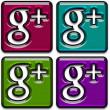 Google Plus Icons Pack 2 — Stock Photo