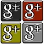 Google Plus Icons Pack 3 — Stock Photo