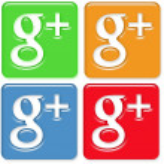 Google Plus Icons Pack 4 — Stock Photo