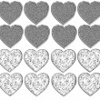 Foto Stock: Bling Heart Shapes