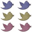 Stock Photo: Earth Tone Twitter Birds Set
