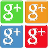 Google Plus Icons Pack 4 — Stock Photo