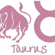 Taurus Signs - Pink Glitter - Foto Stock