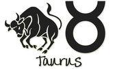 Taurus Signs - Black Sticker — Stock Photo