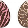 Stock Photo: Pink & Brown Animal Print Easter Eggs
