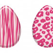 Pink Animal Print Easter Eggs — Stock Photo #9516693