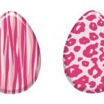 Pink Animal Print Easter Eggs — Stock Photo