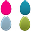 Colorful Easter Eggs Set 2 — Stock Photo