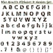 Stock Photo: Blue Giraffe Alphabet & Number Set