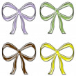 Stock Photo: Colorful Glass Bows Set 2