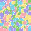 Pastel Sticker Easter Egg Collage Background — Stockfoto