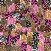 Animal Print Easter Egg Collage Background — Stock Photo
